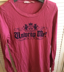 Juicy Couture pink majica dugi rukavi
