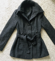 Sivi midi zimski kaput vel S-M