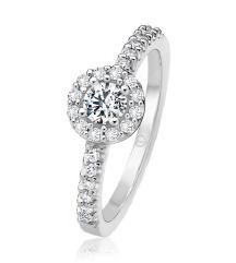 Prsten bijelo zlato i briljanti