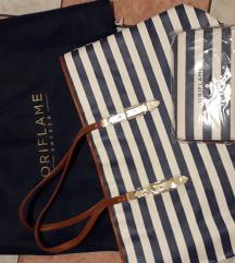 Oriflame navy torba i novcanik