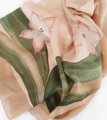 Velika marama ručno oslikana 100% svila