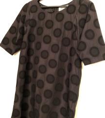 GANNI original točkasta crna mini haljina vel XS
