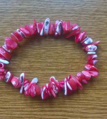 NOVO Narukvica rozi koralji (besplatna poštarina)