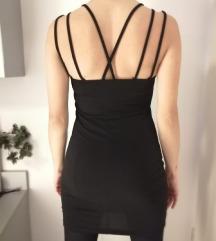 Crna čipka haljina