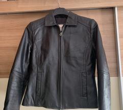 Prava crna kozna jakna
