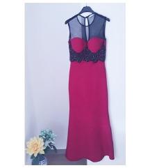 Duga svečana haljina boje ciklame