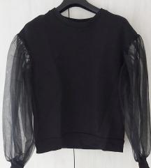 H&M pulover s mesh rukavima