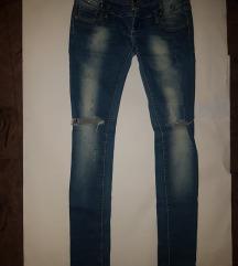 hlače jeans elastin traperice