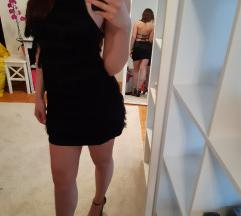Crna haljina sa resicama