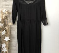 Crna midi Zara haljina