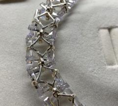 Vintage impresivna dizajnerska narukvica srebro