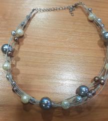 Sivo krem bez ogrlica metal