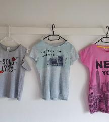 Tri precool moderne majice, C&A, lot