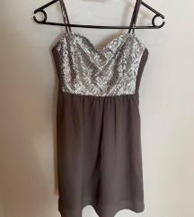 Svečana srebrna haljina