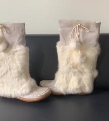 Sisley kožno-krznene čizme