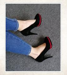 NOŠENO JEDNOM - Crne cipele, vel. 37