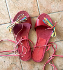 SNIZENO Kožne sandale crvene