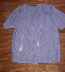 Prugasta košulja sa perlama