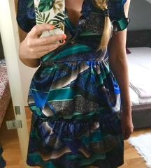 Satinirana koktel haljina od viskoze+🎁 nakit