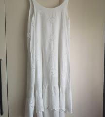 Bijela asimetrična haljina