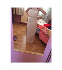 Duga haljina boja bijele kave