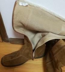 Čizme tople prava koža sniženo