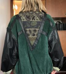 Vintage kožna i vunena jakna: m S/ ž oversize