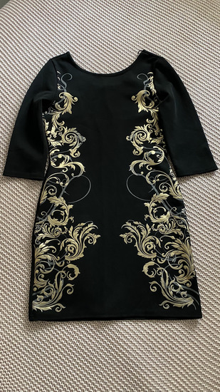 Sniženo! Crno zlatna haljina