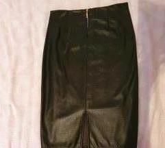 Nova kožna suknja M