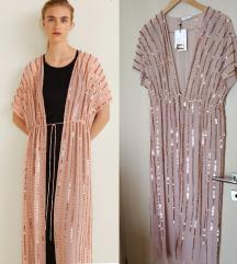 Nova Mango haljina ogrtač sa šljokicama S/M