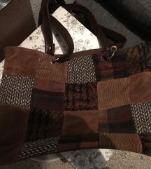 Vintage zimska samt torba