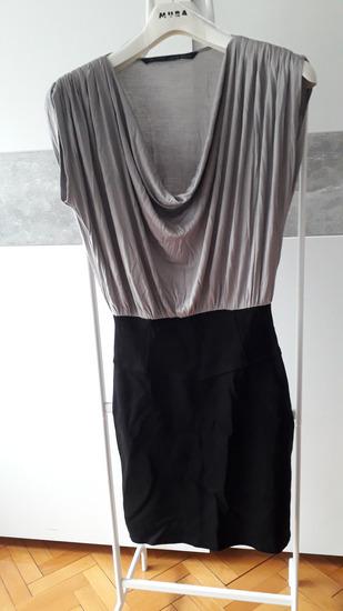 Crno-svia haljina ZARA