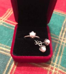 Srebrni komplet, naušnice i prsten, 925