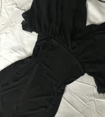 Crna haljina sa šišmiš rukavima