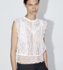 %Zara cipkana bluza 34