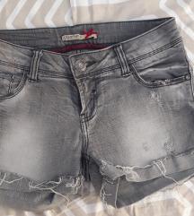 Kratke jeans hlace sive Stradivarius