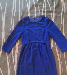 Zara kraljevsko plava haljina XS