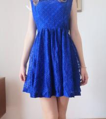 Kraljevsko plava haljina sa etiketom