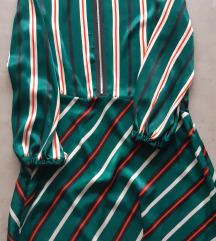 Zara zelena prugasta haljina