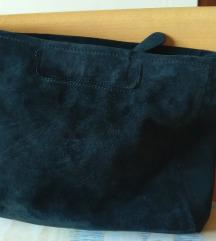 Nova crna ženska torba od brušene koše