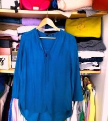 NOVO Massimo Dutti bluza 100% svila