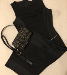 Midi crna haljina S