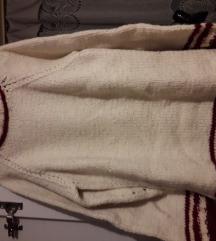 Vesta -rukom pletena