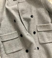 Zara sivi kaput HANDMADE