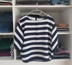 Zara prugasta bluza s biserima