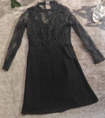 ZARA čipkana haljina 34