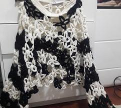 Zara crochet pulover %