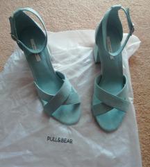 Pull&Bear baby blue sandale blok peta