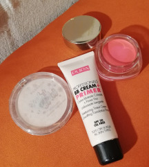 PUPA BB Cream SPF + rumenilo i highlighter