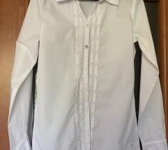 Bijela strukirana košulja
